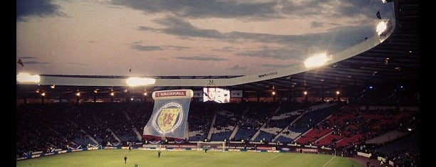 Hampden Park is one of Glasgow I was there.
