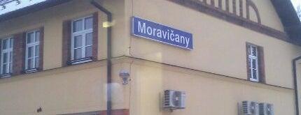 Železniční stanice Moravičany is one of Železniční stanice ČR: M (7/14).
