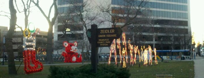 Zeidler Union Square is one of Guide to My Milwaukee's best spots.