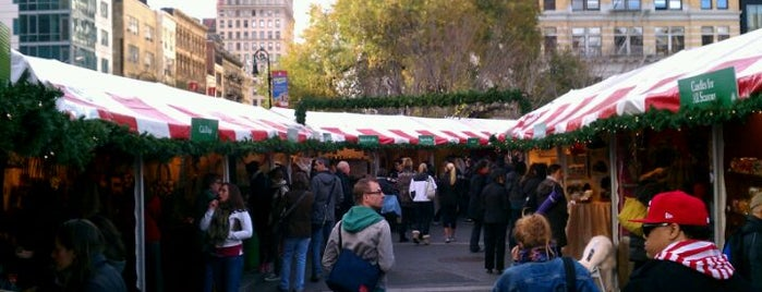 Union Square Holiday Market is one of Places to go with Bill.