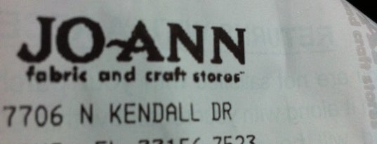 JOANN Fabrics and Crafts is one of Miami.