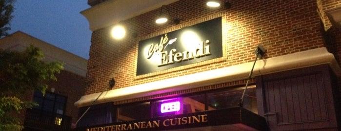 Cafe Efendi Mediterranean Cuisine is one of Favorites.