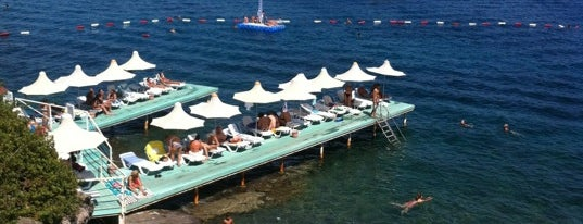 Aura Beach is one of Bodrum /TURKEY City Guide.