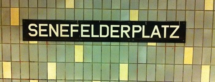 U Senefelderplatz is one of U-Bahn Berlin.
