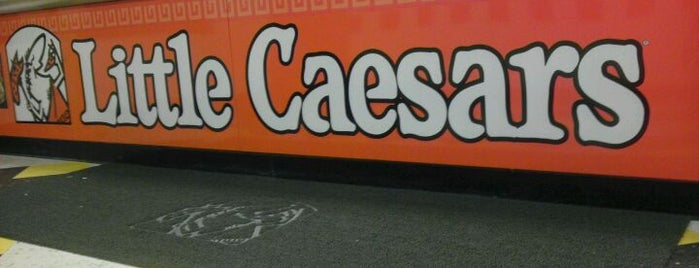 Little Caesars Pizza is one of places.