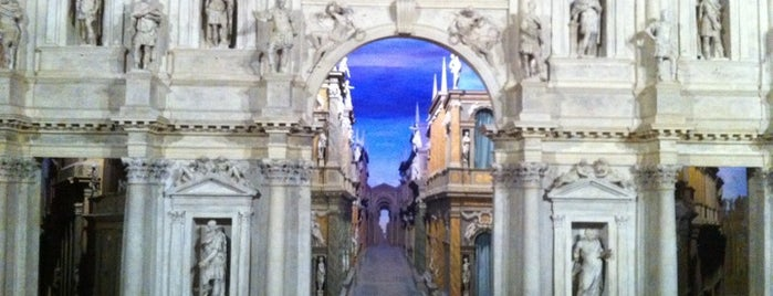Teatro Olimpico is one of Vicenza, City of Palladio.