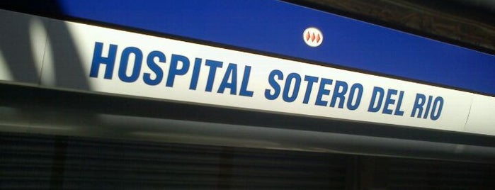 Metro Hospital Sótero del Río is one of Estaciones del Metro de Santiago.