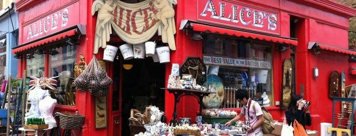 Mercado de la calle Portobello is one of London.