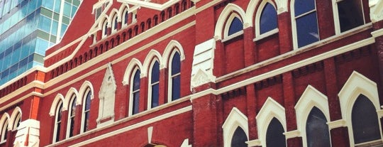 Ryman Auditorium is one of Dan's Places.