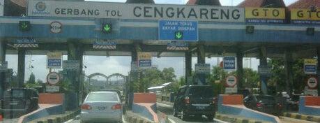 Gerbang Tol Cengkareng is one of Jakarta. Indonesia.
