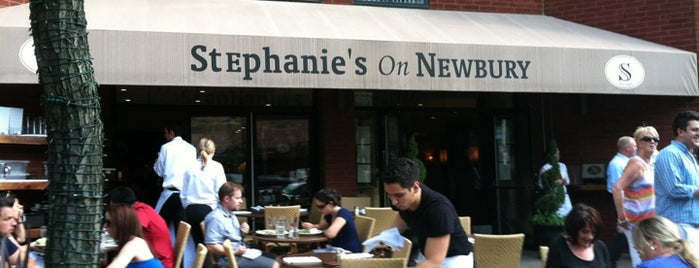 Stephanie's On Newbury is one of Bars in Boston With Fireplaces.