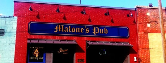 Malone's Pub is one of Single joints of Ft worth.