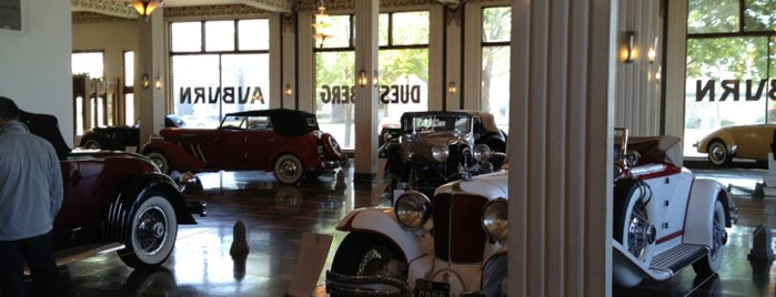 Auburn Cord Duesenberg Automobile Museum is one of Indiana's National Historic Landmarks.