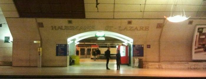 RER Haussmann – Saint-Lazare [E] is one of Paris.