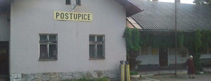 Železniční stanice Postupice is one of Železniční stanice ČR: P (9/14).