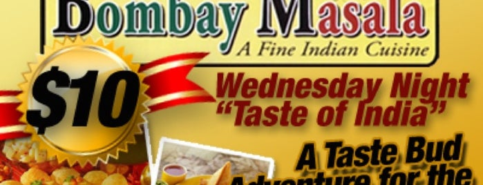 Bombay Masala is one of 20 favorite restaurants.