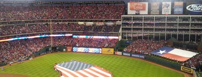 Globe Life Park in Arlington is one of Ballparks Across Baseball.