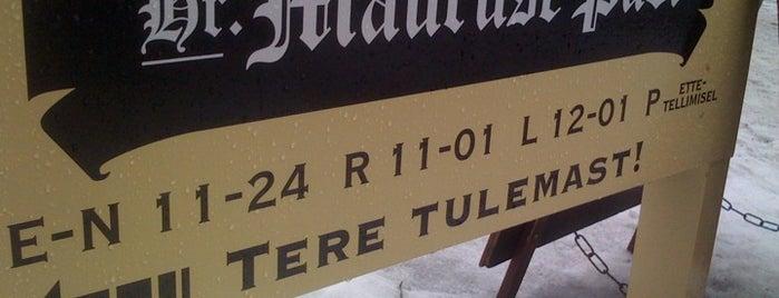 Hr. Mauruse pubi is one of The Barman's bars in Tallinn.