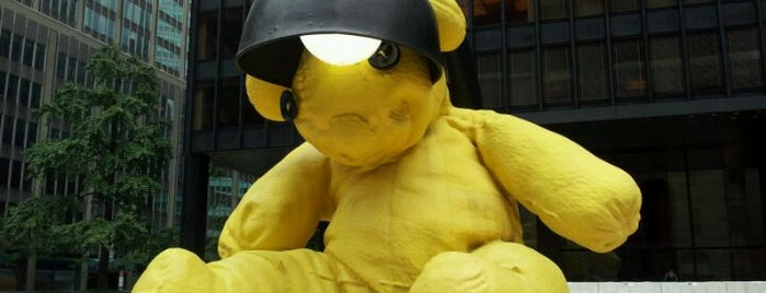 """The Big Yellow Teddy Bear is one of """"Be Robin Hood #121212 Concert"""" @ New York!."""