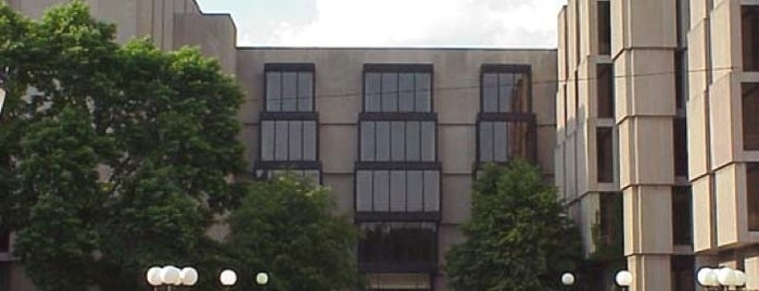 The Joseph Regenstein Library is one of UChicago places to see.
