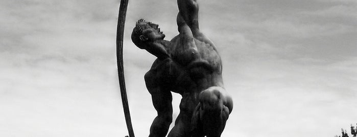 Rocket Thrower Statue is one of Partners in Preservation-New York City.