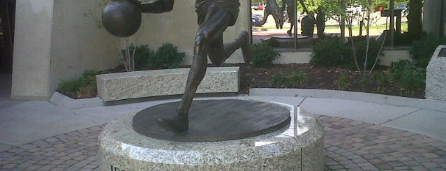 Jerry West Statue is one of Mountaineer Traditions.