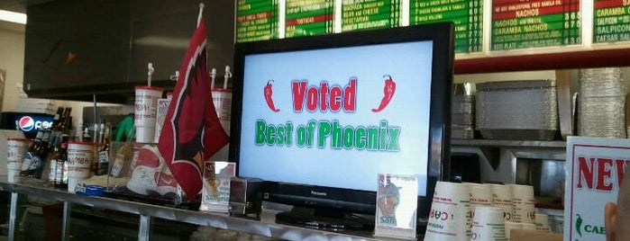 Carambas Mexican Restaurant is one of PHX Latin Food in The Valley.
