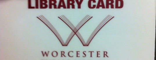 Worcester Public Library is one of WOOCard Venues.