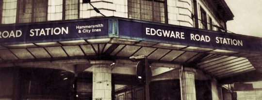 Edgware Road London Underground Station (Circle, District and H&C lines) is one of District Line.