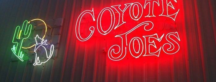 Coyote Joe's is one of Clt drank.