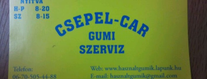 Csepel-Car Gumi Szerviz is one of 1.