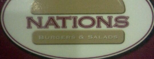 Nations Burgers & Salads is one of Hamburguers do Paulones.