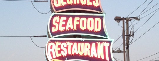 Captain George's Seafood is one of Local Redskins Rally Bars.