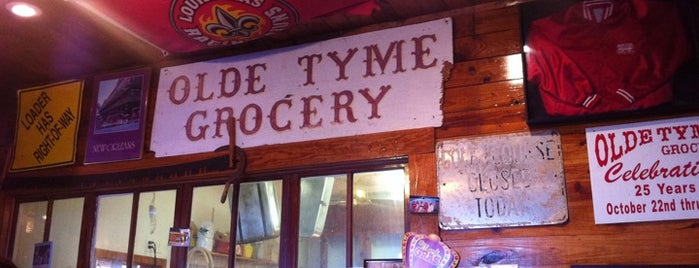 Olde Tyme Grocery is one of New Orleans/Lafayette.