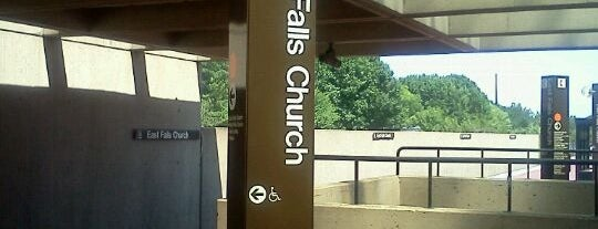 East Falls Church Metro Station is one of WMATA Train Stations.