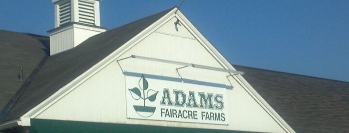 Adams Fairacre Farms is one of A list of spots.