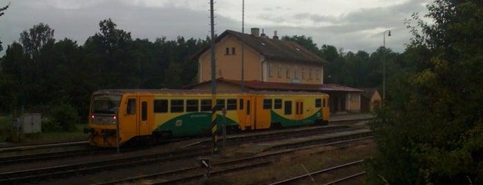 Železniční stanice Poběžovice is one of Železniční stanice ČR: P (9/14).