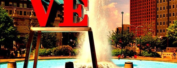 JFK Plaza / Love Park is one of Philly Favorites.