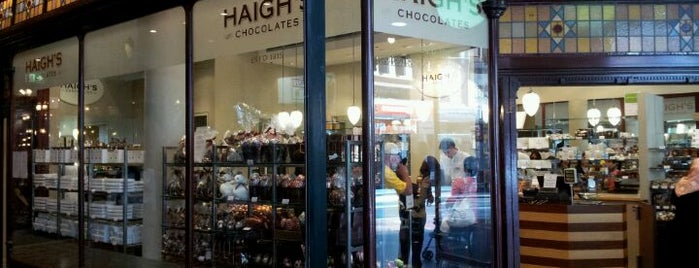 Haigh's Chocolates is one of Sydney '17.