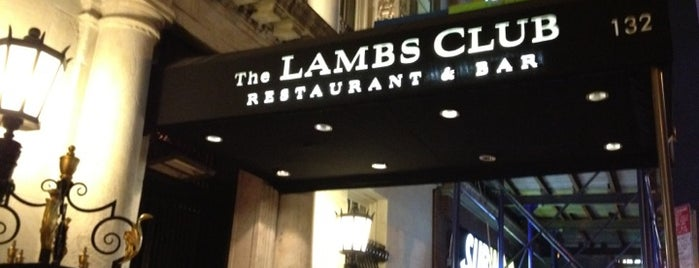 The Lambs Club is one of NYC ONCE AGAIN.