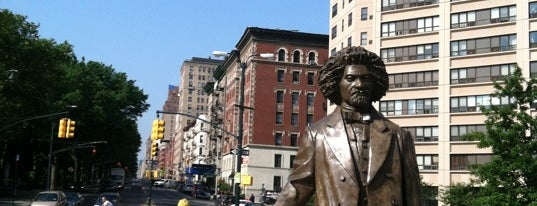 Frederick Douglass Circle is one of NYC Percent for Art.