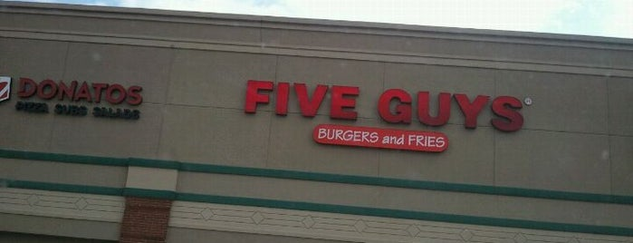 Five Guys is one of Indianapolis's Best Burgers - 2012.
