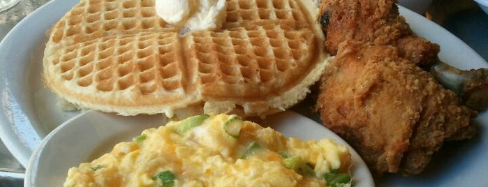 Gussie's Chicken & Waffles is one of cheap eats.