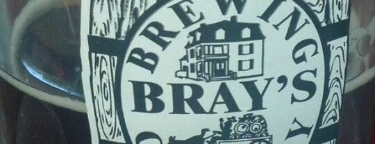 Bray's Brew Pub is one of New England Breweries.