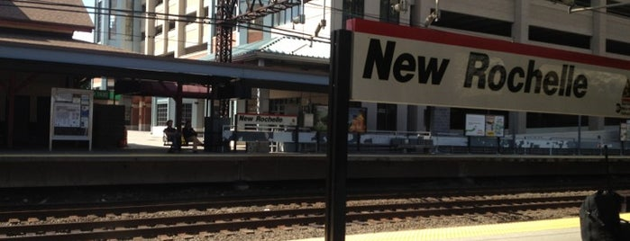 New Rochelle Train Station (NRO) - Metro North & Amtrak is one of My Places.
