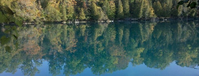 Green Lakes State Park is one of CNY Fall Favorites.