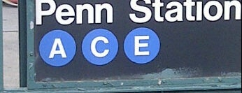 """MTA Subway - 34th St/Penn Station (A/C/E) is one of """"Be Robin Hood #121212 Concert"""" @ New York!."""
