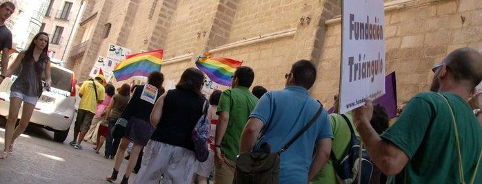 Fundación Triángulo (por la igualdad social de gais, lesbianas, bisexuales y trans) is one of Sedes de Fundación Triángulo.