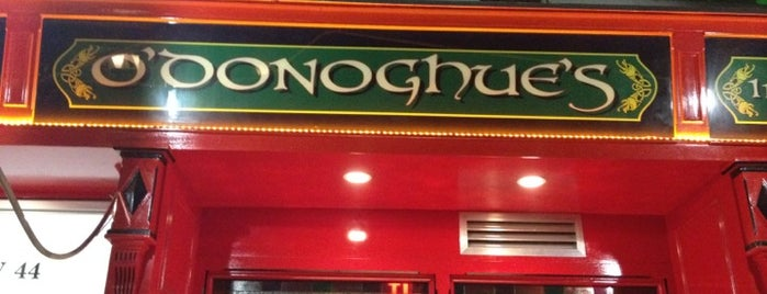 O'Donoghues Pub & Restaurant is one of NYC spots.