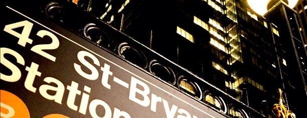 MTA Subway - 42nd St/Bryant Park (B/D/F/M/7) is one of MTA Subway - F Line.
